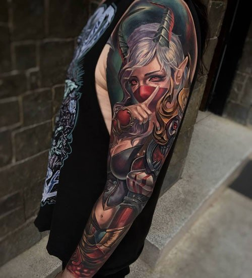 Creative Sleeve Tattoo Designs
