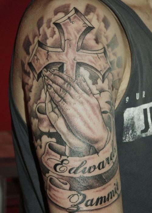 Cross Sleeve Tattoos