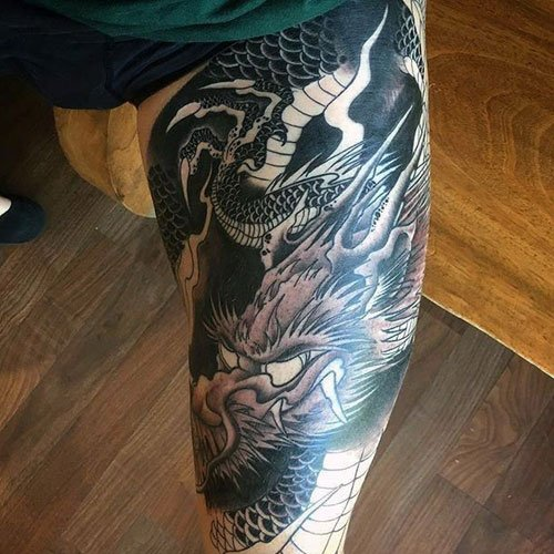 Dragon Leg Tattoo
