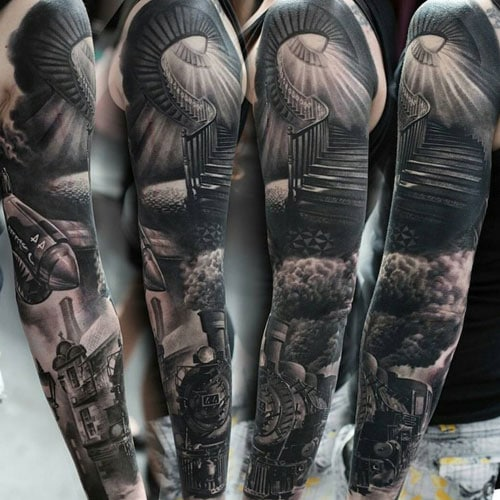 Full Arm Piece Sleeve Tattoo