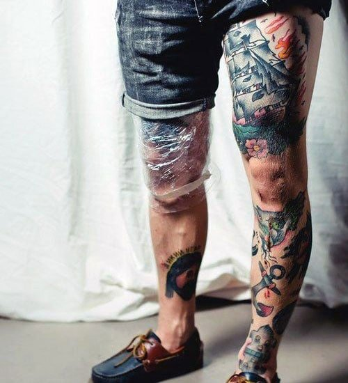 Full Leg Tattoo Design Ideas