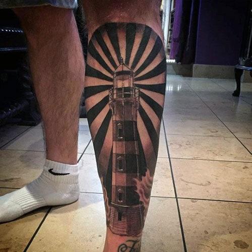 Full Shin Leg Tattoos