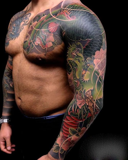 Japanese Dragon Sleeve Tattoo