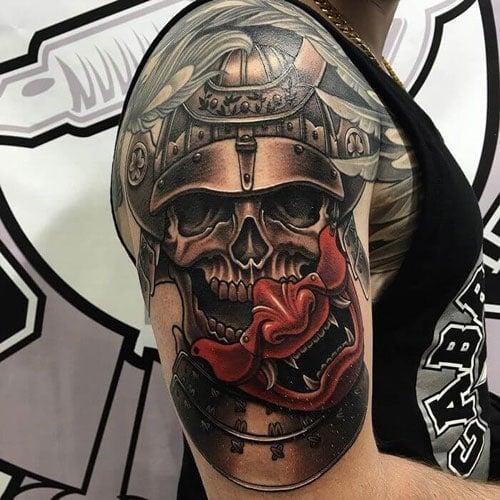 Japanese Samurai Sleeve Tattoo