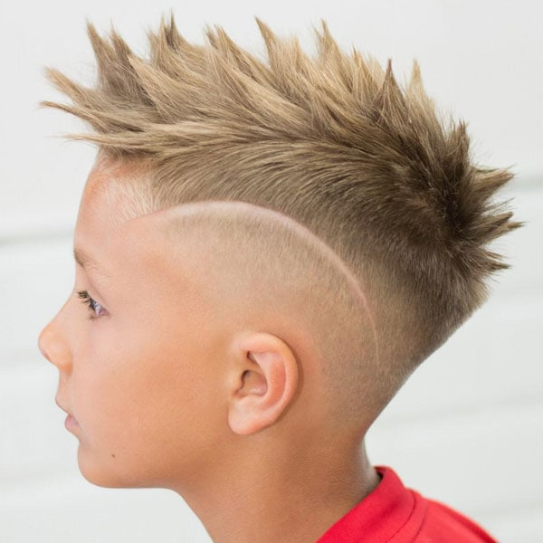 Kids Faux Hawk Fade Haircut