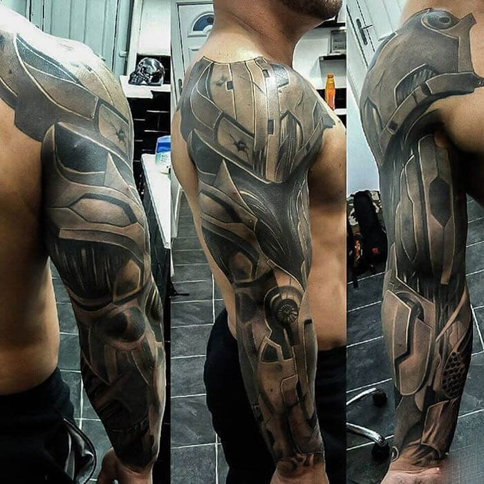 Mechanical Sleeve Tattoo