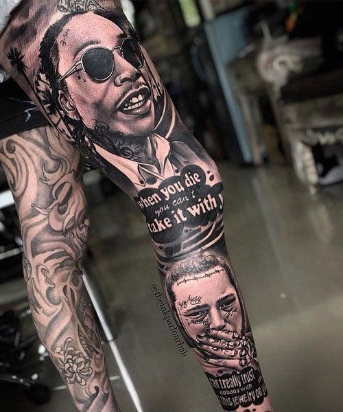 Realistic Leg Tattoo Designs