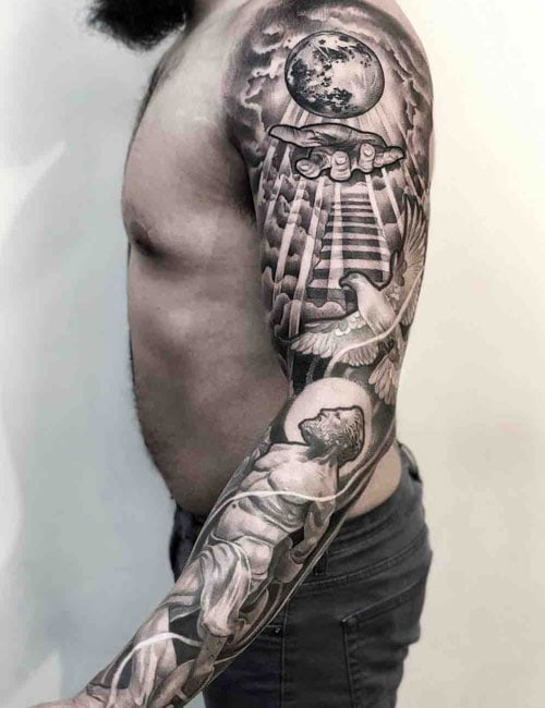 Religious Christian Sleeve Tattoo For Men