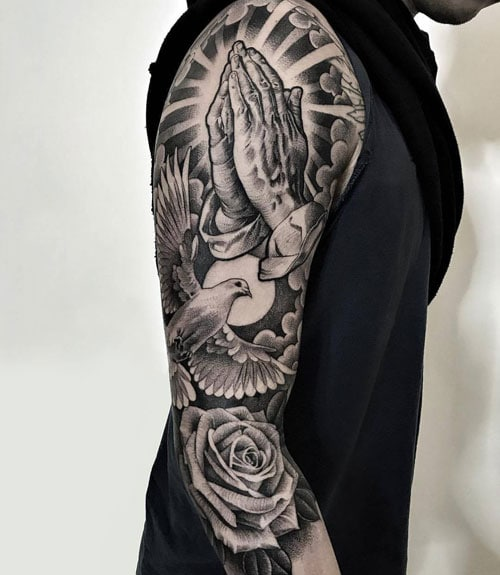 Religious Christian Sleeve Tattoo Ideas