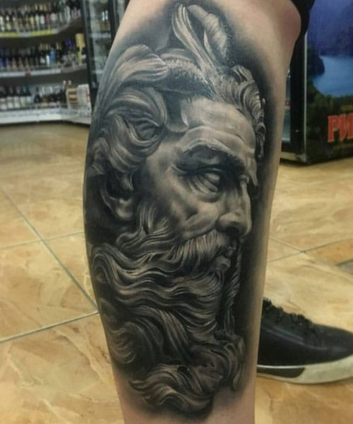 Religious Lower Leg Tattoos