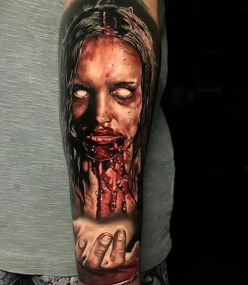 Scary Sleeve Tattoo Designs For Men