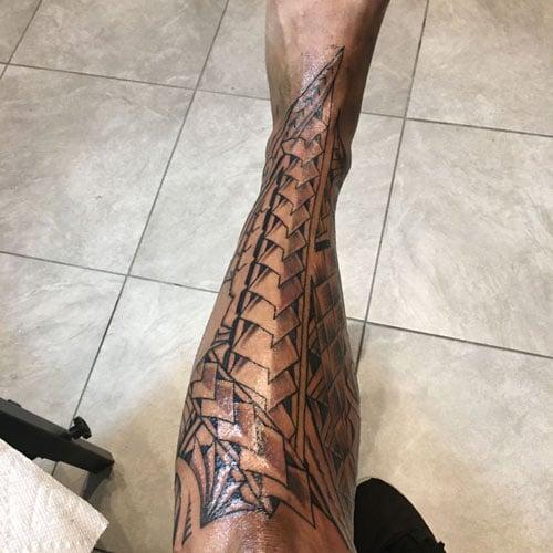 Shin Tattoo Ideas For Guys