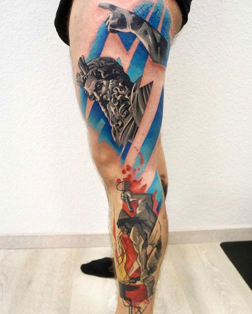 Side Leg Tattoo