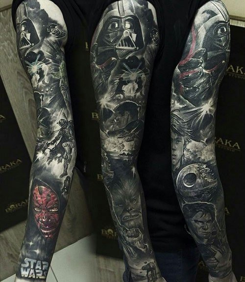 Star Wars Sleeve Tattoo