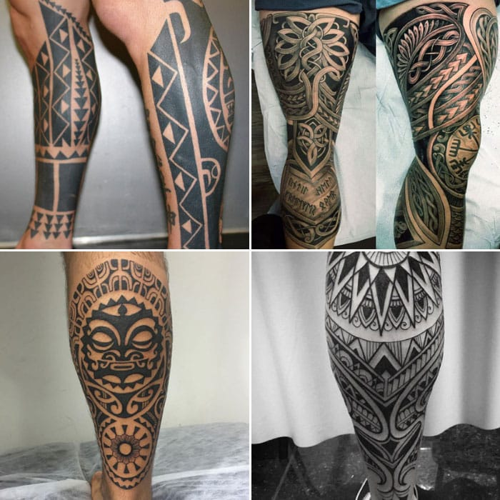 Tribal Leg Tattoo