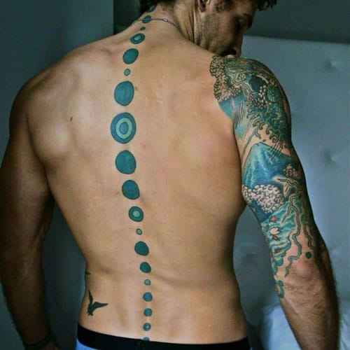 Back Spine Tattoos For Men