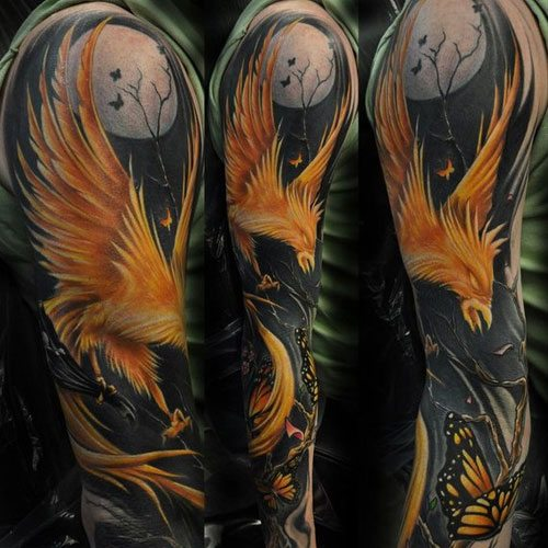Best Full Sleeve Phoenix Tattoo