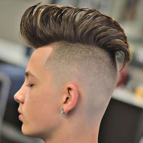 Boys Long Mohawk + Shaved Sides
