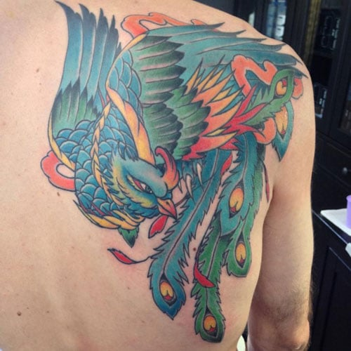 Cool Phoenix Back Piece