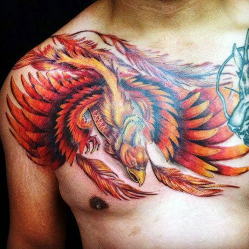 Cool Phoenix Tattoo For Guys