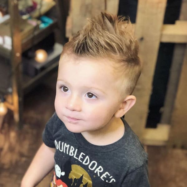 Cute Toddler Mohawk with Fade