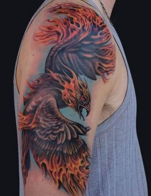 Flaming Phoenix Tattoo Designs