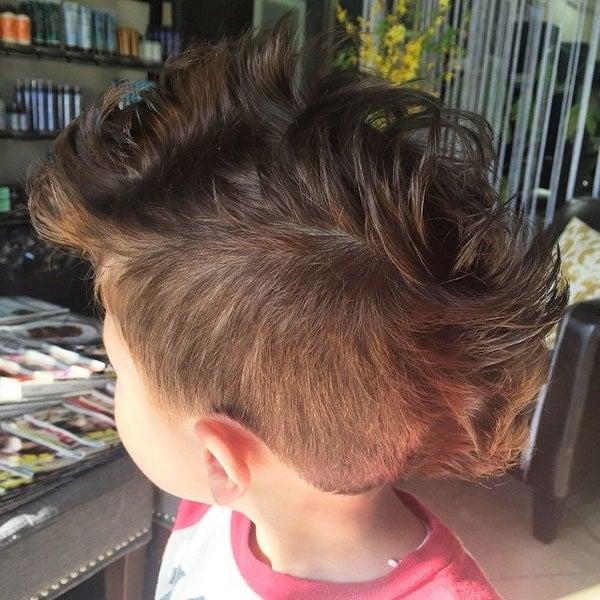 Little Boy Curly Mohawk wih Taper Fade
