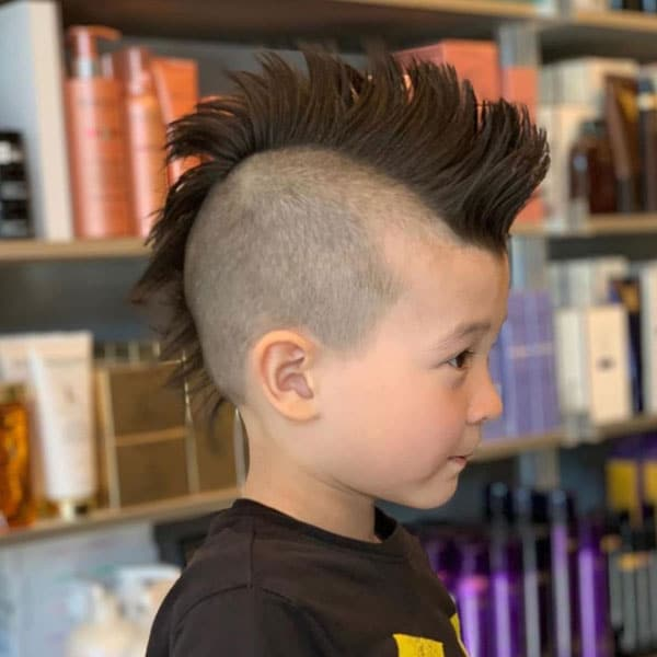 Little Boy Mohawk with Shaved Sides
