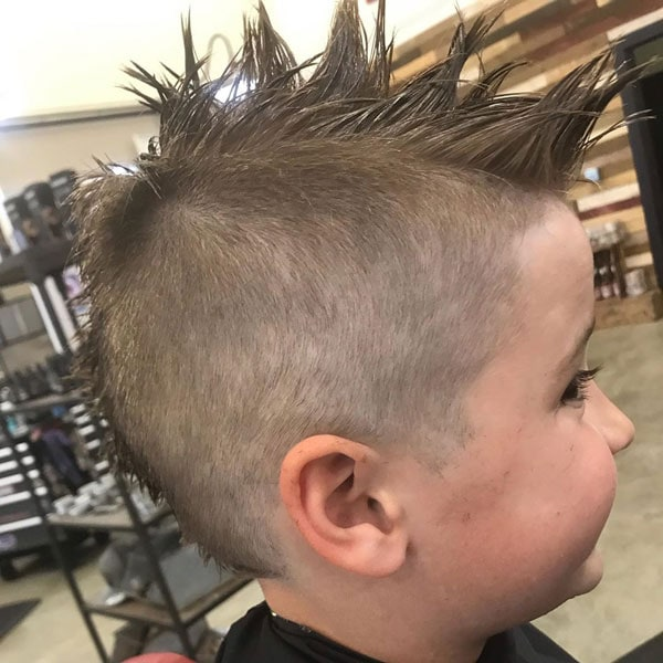 Long Spiked Mohawk + Very Short Sides