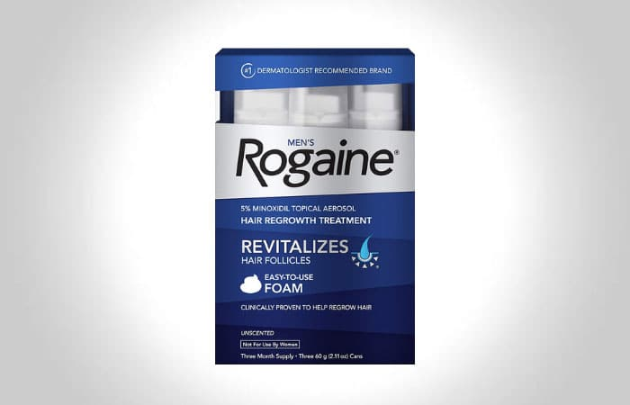 Men's Rogaine 5% Minoxidil Foam for Hair Loss and Regrowth