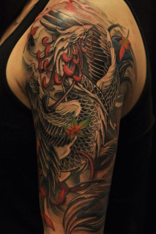 Phoenix Half Sleeve Tattoo Ideas