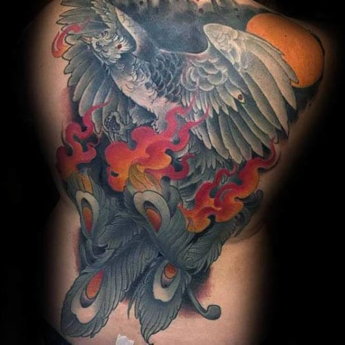Traditional Phoenix Tattoo Designs For Men