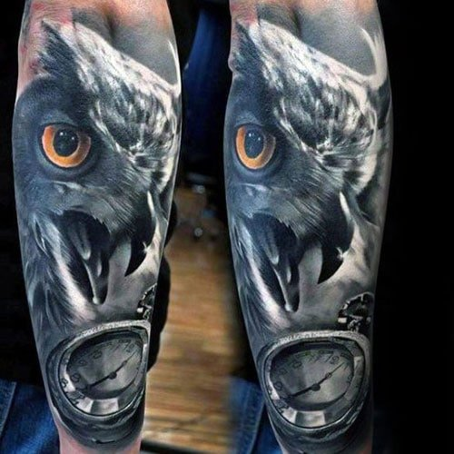 3D Eagle Back of the Arm Tattoos