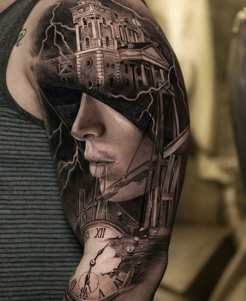 Amazing Shoulder Upper Arm Tattoo