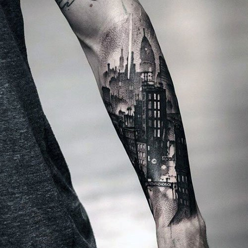 Badass 3D Front Arm Tattoos For Men
