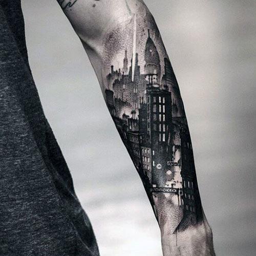 Badass 3D Front Arm Tattoos For Men