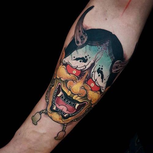 Badass Japanese Arm Tattoo Ideas
