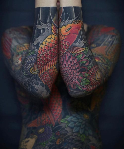Badass Japanese Full Body Tattoo Ideas