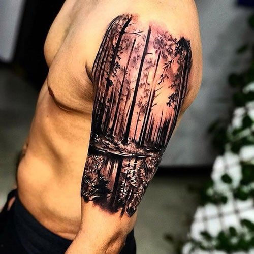 Beautiful Upper Arm Tattoo Designs For Men