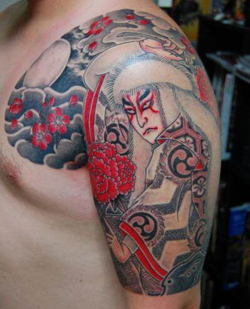 Classic Japanese Shoulder Tattoo