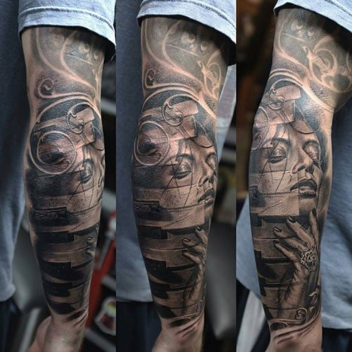 Cool 3D Side Back of the Arm Tattoos