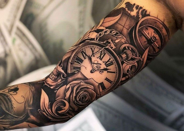 125 Best Arm Tattoos For Men Cool Ideas Designs 2021 Guide A floral tattoo in black and white. 125 best arm tattoos for men cool
