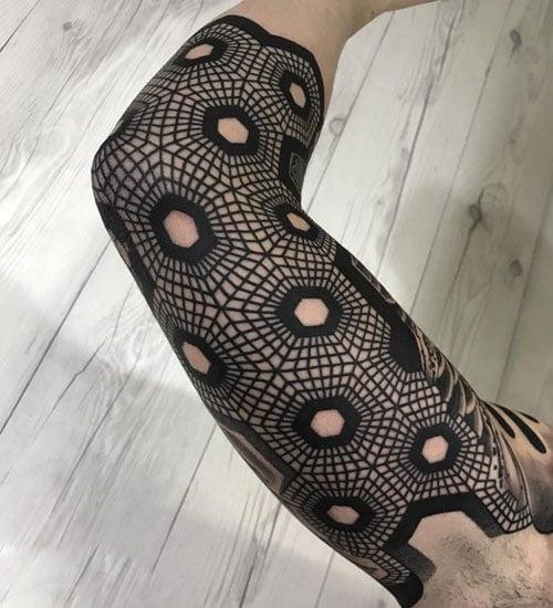 Cool Geometric Sleeve Tattoos