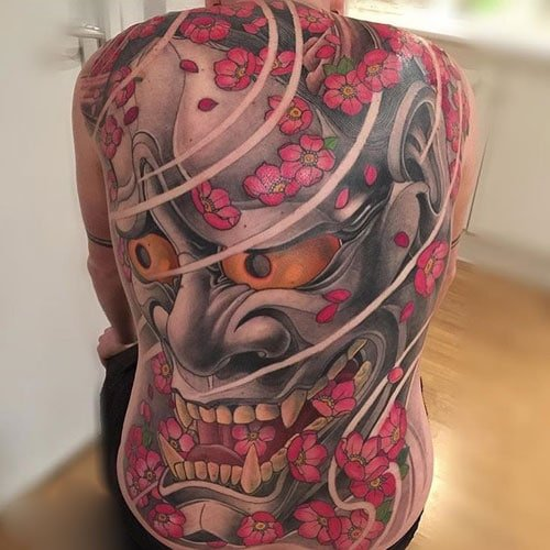Cool Japanese Back Tattoo