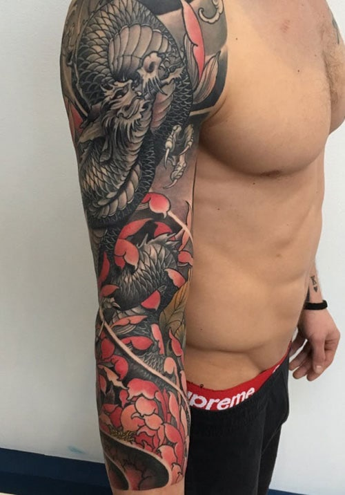 Cool Sleeve Japanese Tattoo Designs