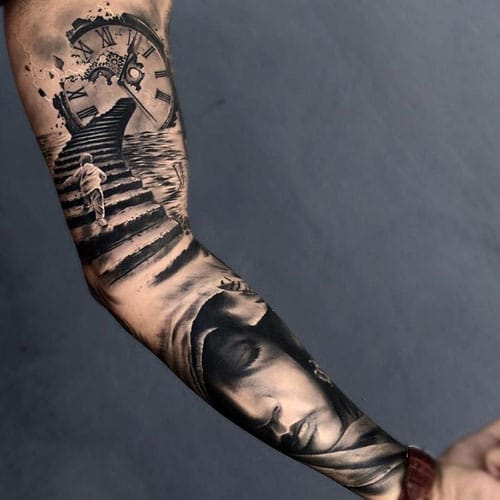 125 Best Arm Tattoos For Men Cool Ideas Designs 2021 Guide In fact, you really can't go wrong for instance, an upper arm tattoo may be hidden at work, with the option of letting your artwork go up. 125 best arm tattoos for men cool