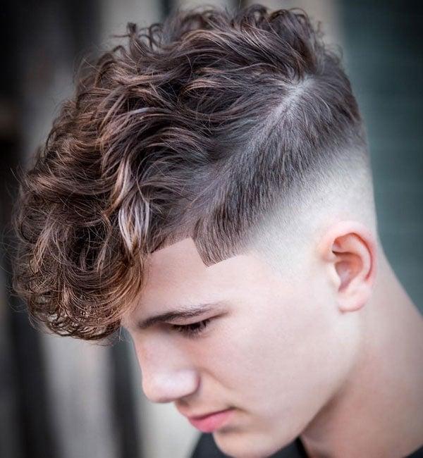 Curly Hair Fringe Men