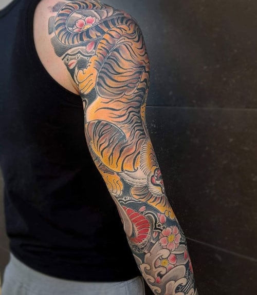 Erizumi Japanese Tiger Tattoo
