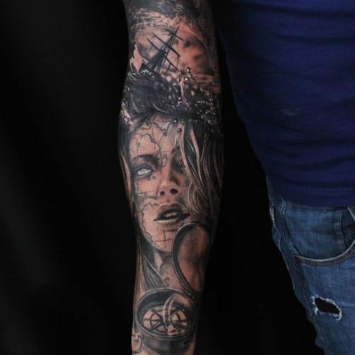 Full Lower Arm Tattoo Designs