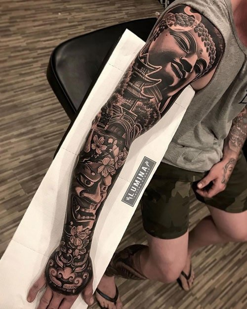 Full Outer Arm Tattoo Designs